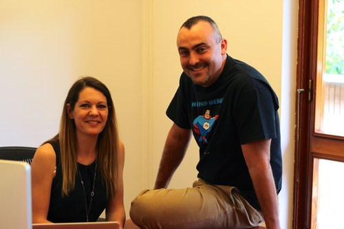 Isabelle Andrieu and Marco Trombetti, Translated co-founders (PRNewsFoto/Translated)