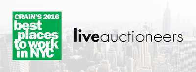 LiveAuctioneers Wins Coveted Spot on Crain's New York Business 'Best Places to Work in New York City' List