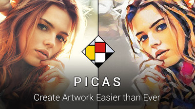 Picas app, one step turning photos into artwork.