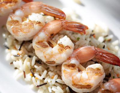 Red Lobster's lunch and dinner skewers now feature bigger shrimp. Shrimp Skewers also use a new skewering method, called double-piercing, which provides greater surface area for consistent cooking and more room for saucing.