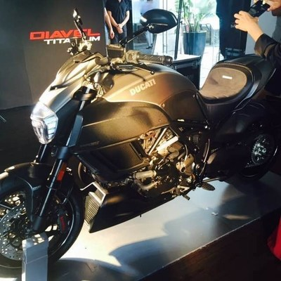 Ducati Diavel Titanium equipped with Alcantara