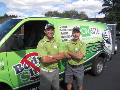 Steve Crabb (left), co-founder, and Matt Harden, CEO, traded careers in the ministry and law to build successful company, Onsite Recon.  (PRNewsFoto/Onsite Recon)