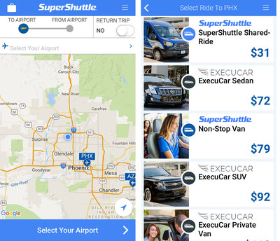 SuperShuttle app is easy to use and earns passengers double airline miles all Summer long. See the SuperShuttle Summer Sale for more information.