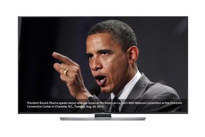 1 Mainstream platform's Samsung UHD 4K Associated Press Breaking News Photo Gallery app. (PRNewsFoto/1 Mainstream)