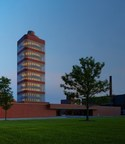 SC Johnson's research tower in Racine, Wisconsin, designed by Frank Lloyd Wright.