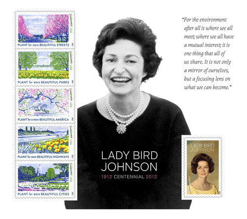 The achievements of Lady Bird Johnson were commemorated today with the dedication of the Lady Bird Johnson ...