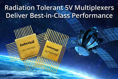 Intersil's ISL71830SEH and ISL71831SEH radiation tolerant 5V multiplexers provide the industry's best ESD protection and signal processing performance