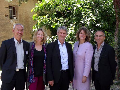 Our international speakers gathered in Aix-en-Provence: Rémi Denoix, Carolina Serrano-Archimi, Dr. Georg Kraus, Nancy Hubbard, Raphaël Zaccardi
