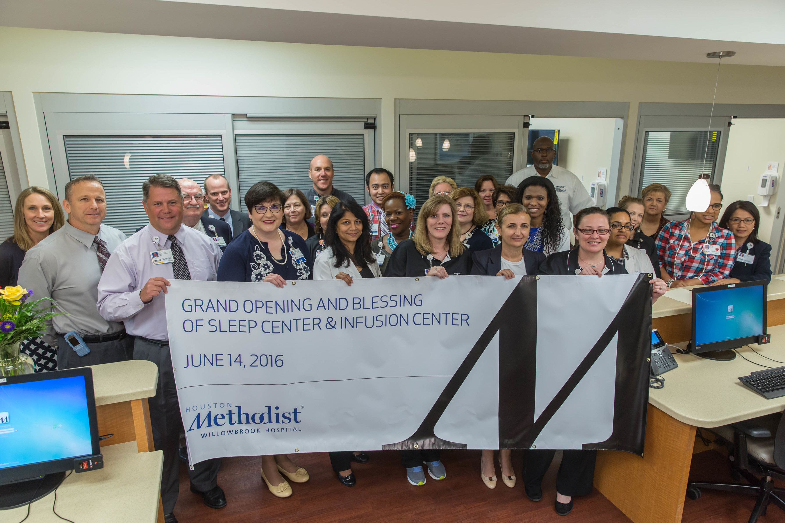 Houston Methodist Willowbrook Hospital celebrates opening of new Sleep Center and Infusion Center.