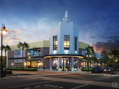Rendering of the Punch Bowl Social location that will open in Rancho Cucamonga in April 2017.