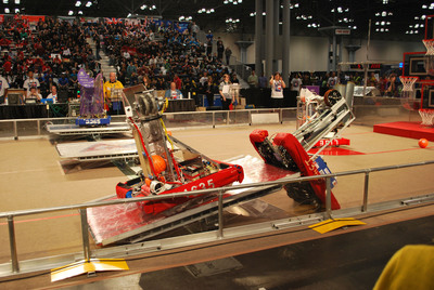 The bots return to Javits for the FIRST competition - 3/7-3/9.  (PRNewsFoto/NYC FIRST/DATA Inc.)
