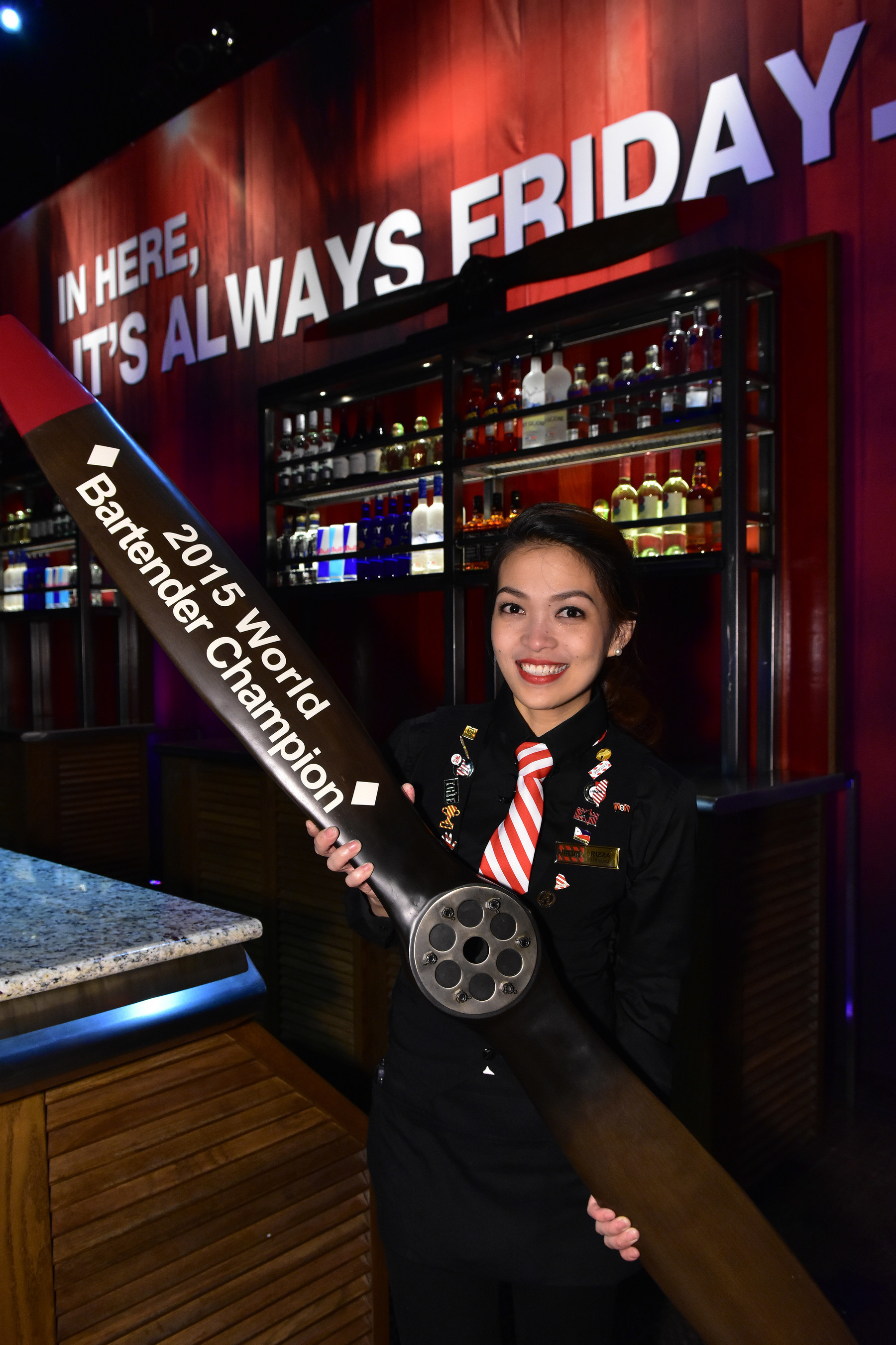 TGI Fridays 2015 World Bartender Champion Rizza Umlas from Manila, Philippines
