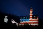 The Free State of Bavaria welcomes President Barack Obama to the G7 summit by illuminating the Stars and Stripes on the front of Neuschwanstein Castle. (PRNewsFoto/Bayerische Staatskanzlei)
