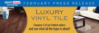 SMART Carpet and Flooring Recommends Luxury Vinyl Tile for Residential, Commercial Applications Where Aesthetics and Durability Are Top Priorities
