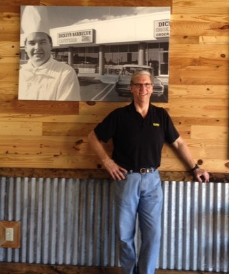 Mike Wiemers inside his new Dickey's Barbecue Pit in Fletcher. Three day grand opening kicks off Thursday.