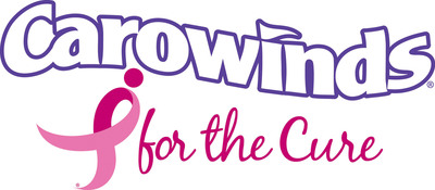 Carowinds, the thrill capital of the Southeast, is proud to team up with the Charlotte Affiliate of Susan G. Komen for the Cure(TM) for a four-week fundraising initiative called Carowinds for the Cure. This special program will be held at the park and online from July 11 through August 7. Please visit www.carowinds.com for more information.  (PRNewsFoto/Carowinds)