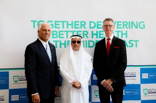Left to Right: Mr. Peter Makowski, CEO, American Hospital Dubai;  Mr. Saeed Almulla, Chairman of the Board, ...