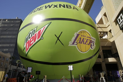 DEWxNBA basketball installation at Dolby Theatre in Hollywood