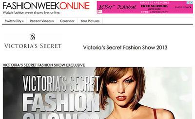 Victoria's Secret Fashion Show Preview (Plus Behind-The-Scenes).(PRNewsFoto/Fashion Week Online) (PRNewsFoto/FASHION WEEK ONLINE)