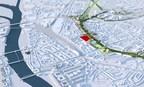 Ballast Nedam en het Belgische ViRiX betrekken het voormalige KPN-terrein in het centrum van Maastricht Oost bij de ontwikkeling van de toekomstige Groene Loper, de bovengrondse herinrichting van de A2-tunnel die eind 2016 in gebruik zal worden genomen. (PRNewsFoto/Ballast Nedam)