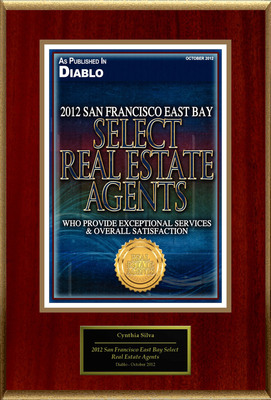 "Cynthia Silva Selected For ""2012 San Francisco East Bay Select Real Estate Agents"".  (PRNewsFoto/American Registry)"