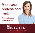 Search jobs at roberthalf.us.  (PRNewsFoto/Robert Half International)