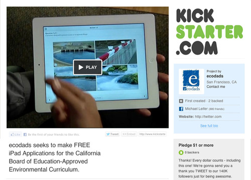 ecodads Launches Crowd-Funding Campaign to Support California's Landmark Eco-Literacy Curriculum with FREE ...