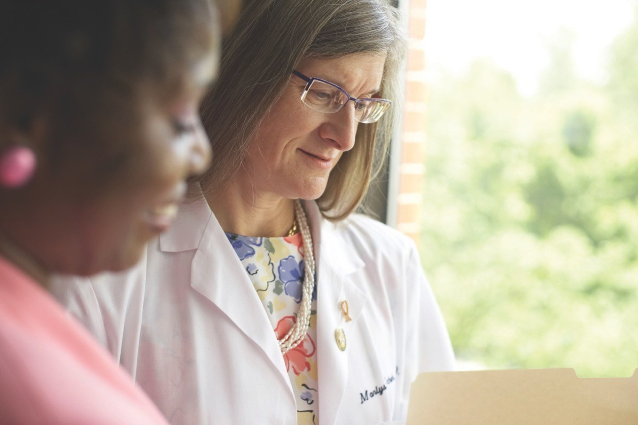Dr. Marlys Schuh (right), is an oncologic breast surgeon and co-founder of Gateway to Hope.  The organization helps underinsured and uninsured individuals diagnosed with or at high risk for breast cancer throughout Missouri and Illinois.  Call the Gateway to Hope Breast Cancer Lifeline (314-569-1113) or visit www.gthstl.org for more information.