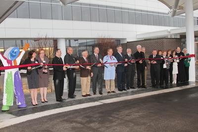 More than 3,000 people joined the Alexian Brothers and leaders of Alexian Brothers Health System to celebrate the upcoming opening of Alexian Brothers Women & Children's Hospital during a series of events at the Hoffman Estates, Illinois facility. The $125 million hospital is scheduled to open April 6 and will provide convenient access to a broad continuum of advanced pediatric care that families in Chicago's northwest suburbs previously could receive only by traveling much longer distances.    (PRNewsFoto/Alexian Brothers Health System)