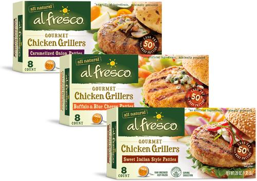 al fresco all natural Gourmet Chicken Grillers. (PRNewsFoto/al fresco all natural)