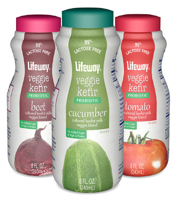 New Veggie Kefir from Lifeway Foods Breaks Savory New Ground in Probiotics.  (PRNewsFoto/Lifeway Foods, Inc.)