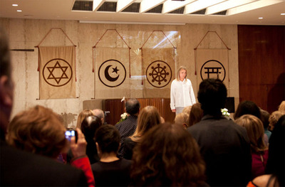 Braco shares his special gift at a United Nations event sponsored by the Society for Enlightenment and Transformation, where he was presented a Peace Pole symbol in special recognition of his 17-year commitment to helping people in many countries throughout the world. The special event took place November 16 at the Church Center of the United Nations and was well attended United Nations Staff members, Representatives of UN Accredited NGO's and Mission Members who gathered to collectively experience Braco's silent gaze. A special tribute was made by the attendance of Croatia's Ambassador to the United Nations, Ranko Vilovic. (PRNewsFoto/Braco, Dave Rosen)