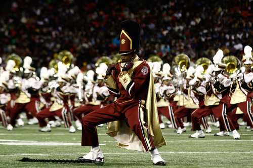 A marching band performs at the 2013 Honda Battle of the Bands. Honda announced the line up of bands for the ...