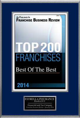 "ESTRELLA INSURANCE Selected For ""Top 200 Franchises 2014"""