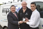 The Apprentice Winner 2015, Joseph Valente, adopts BigChange technology to spring board growth.  From left to right  Martin Port - CEO, BigChange Apps, Stephan Lee - Senior Gas Engineer, Impra-Gas and Joseph Valente - Managing  Director, Impra-Gas (PRNewsFoto/BigChange Apps)