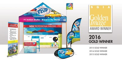 E-Z UP Instant Shelters Wins Gold Award for Digital Printing Excellence Four Years In A Row