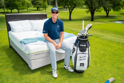 """Tempur Sealy partners with Hunter Mahan to launch """"Sleeping on the Lead"""" campaign."""