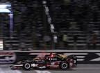 Graham Rahal edged fellow Honda driver James Hinchcliffe in a photo finish to win Saturday night's Firestone 600 at Texas Motor Speedway.
