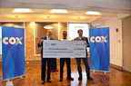 L to R: Dave Bialis, Senior Vice President and Interim Region Manager for Cox Communications' Southeast Region; Michael Jones, Reconcile Student; Stewart Young, Reconcile Executive Director