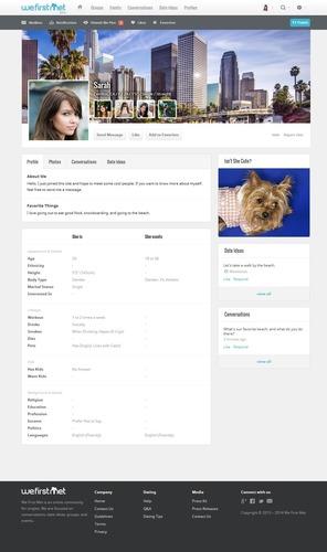 Online Dating Profile (PRNewsFoto/We First Met)