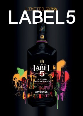 LABEL 5 City Edition Bottle (PRNewsFoto/LABEL 5 First Blending Company)