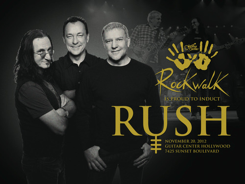 Renowned Rock Trio Rush to be Inducted into Guitar Center's Historic RockWalk.  (PRNewsFoto/Guitar Center)