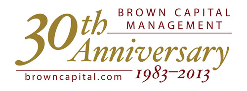 Brown Capital Management 30th Anniversary Logo.  (PRNewsFoto/Brown Capital Management)
