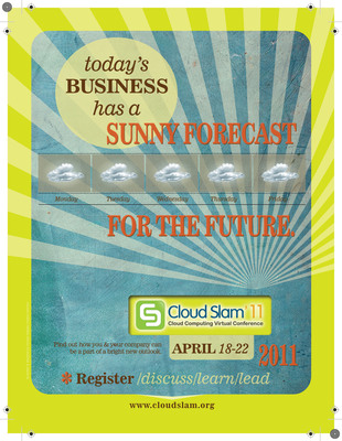 The 3rd Annual Virtual Conference on Cloud Computing will be hosted online from April 18 - 22, 2011.  It is a global event, covering latest trends and innovations in the world of cloud computing.  Conference panels, workshops, and tutorials are selected to cover a range of the hottest topics in cloud computing.  Our conference tracks will focus on the following areas: Cloud for Business, Technology & Innovation, Cloud For Public Sector, Industry Implementation Insights, Governance, Security & Enforcement, Social & Mobile Cloud, and Research & Findings.  (PRNewsFoto/Cloudcor)