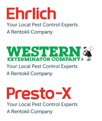 Ehrlich Pest Control, Western Exterminator, and Presto-X Pest Control are all part of the Rentokil family of companies in North America. They provide commercial and residential pest control, bioremediation, bird control, vegetation management, deer repellent services, wild animal trapping, and termite control from more than 150 local offices in the U.S., Canada, and Mexico. Rentokil is the world's largest commercial pest control company, operating in 49 countries worldwide.  (PRNewsFoto/Rentokil North America)
