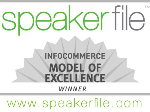 Speakerfile wins Model of Excellence award from InfoCommerce Group and the Software & Information Industry Association.  (PRNewsFoto/Speakerfile)