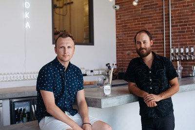Tyler Simmons (L) and Steven Ocheltree (R) local LA partners shown at the Our/Los Angeles distillery and tasting room.     Photo credit: Foxes & Wolves