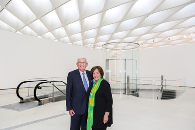 Eli and Edye Broad at The Broad, the contemporary art museum they founded in Los Angeles, in 2015. Photo by Elizabeth Daniels.