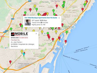 Mobile World Congress 2015 Hotel WiFi Map