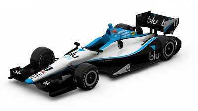 blu eCigs will be the primary sponsor of Rahal Letterman Lanigan Racing's #17 Indy car at the Toyota Grand Prix of Long Beach and an associate sponsor of RLLR's #15 Indy car for the 2013 season.  (PRNewsFoto/blu eCigs)